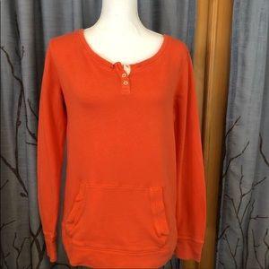 J. Crew M waffle Knit orange pullover kang…